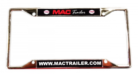 MAC TRAILER LICENSE PLATE FRAMES