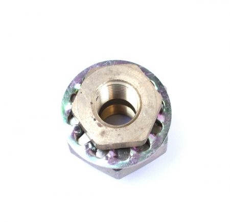 "BRASS, BULKHEAD 3/8"", CHASSIS STANDARD, LARGE NUT"