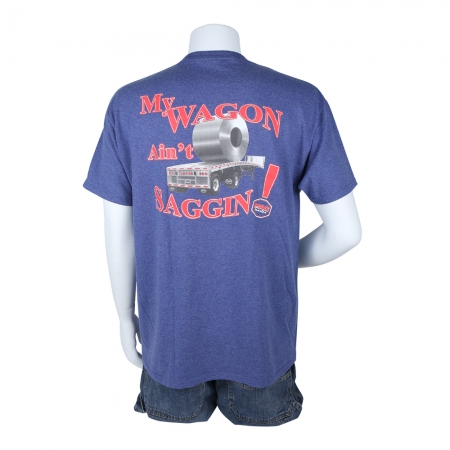"T-SHIRT ""WAGON"" VINTAGE BLUE MEDIUM"