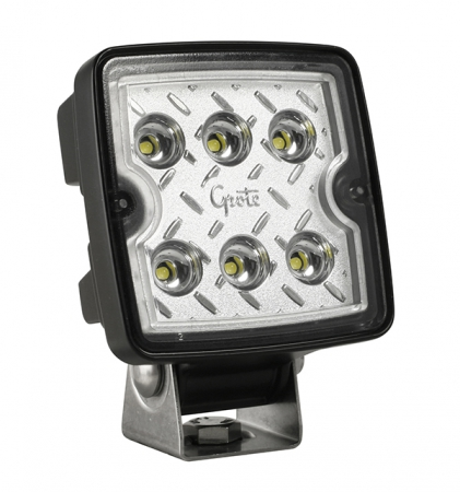 FLOOD LED, WORK LIGHT SQUARE W/MALE TERMINALS