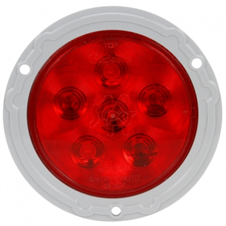 RED LIGHT MODEL 44, S/T/T 6 DIODE, GRAY FLANGE MOUNT