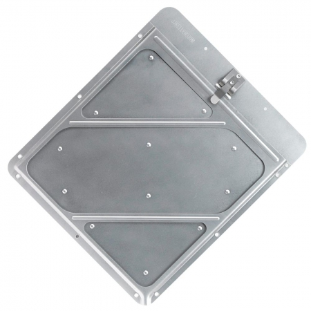 "ALUMINUM PLACARD HOLDER .026"" ALUMINUM WITH RIVETED CONSTRUCTION, INCLUDES STAINLESS STEEL SPRING CLIP, DRAIN AND TWELVE MOUNTING HOLES"